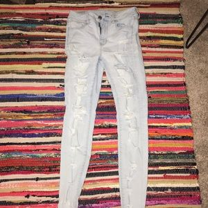 American Eagle Light-wash ripped jeans